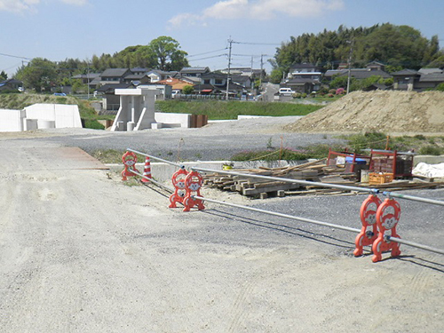 福地川護岸設置(3工区)工事着工前