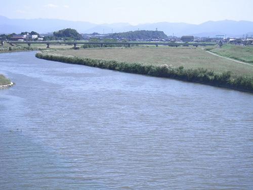 上野橋上流部河道掘削工事 着工前