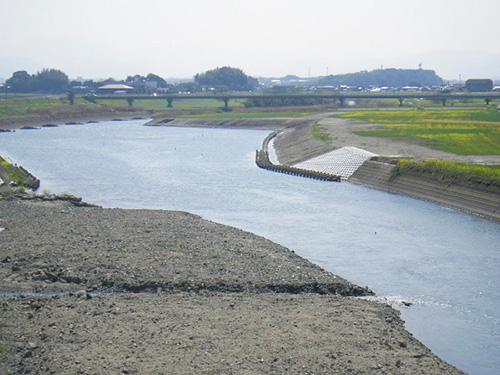 上野橋上流部河道掘削工事 竣工