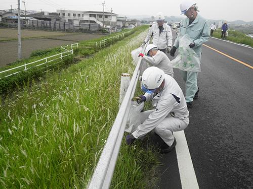 春の遠賀川一斉清掃